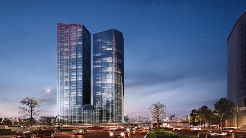 Phối cảnh dự án Capital Place của CapitaLand tại Hà Nội.