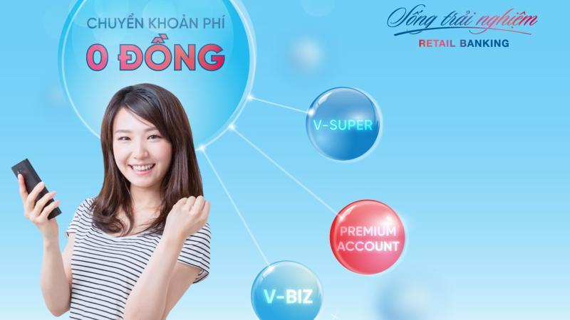 Đây là chương trình khuyến mãi dành cho khách hàng cá nhân mở tài khoản thanh toán, đồng thời đăng ký sử dụng gói tài khoản thanh toán V-Biz, V-super, Premium Account.