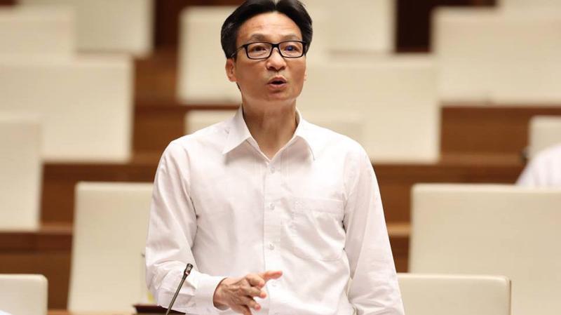 Phó thủ tướng Vũ Đức Đam phát biểu tại Quốc hội - Ảnh: Quang Phúc