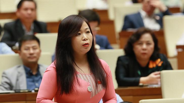 Đại biểu Vũ Thị Lưu Mai tại phiên chất vấn