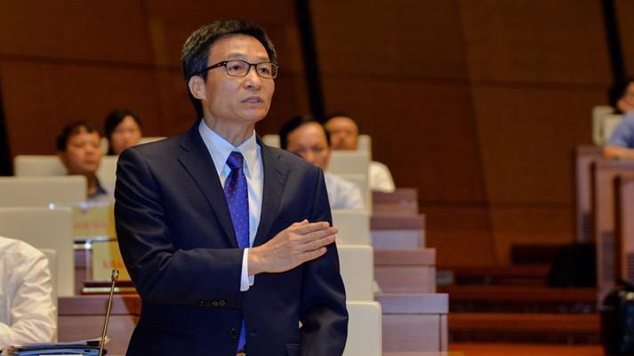 Phó thủ tướng Vũ Đức Đam phát biểu tại nghị trường.