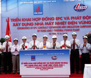 Lễ khởi công Nhà máy Nhiệt điện Vũng Áng 1 ngày 27/8.