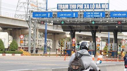 Trạm BOT Xa lộ Hà Nội.