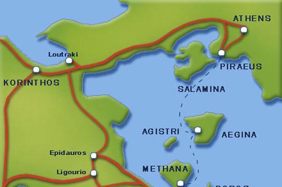 Vị trí cảng Piraeus (Hy Lạp) khá đắc địa.