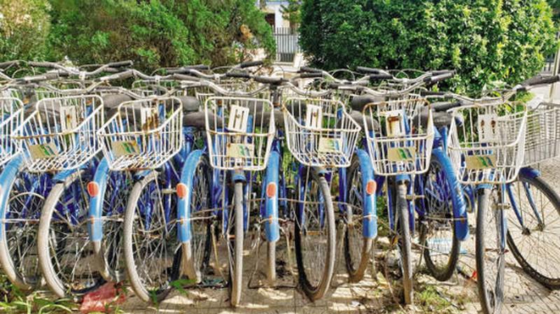 Xe đạp công cộng.