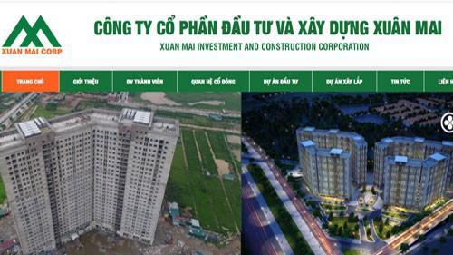 Trang web của Công ty Cổ phần Đầu tư và Xây dựng Xuân Mai (Xuan Mai Corp).