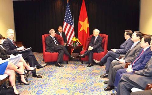 Chuyến thăm Mỹ của Tổng bí thư Nguyễn Phú Trọng mới đây đã mở ra nhiều thuận lợi cho việc hoàn tất đàm phán song phương TPP giữa Việt Nam và Mỹ.<br>