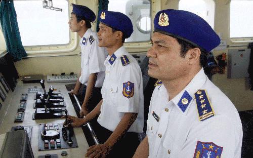Lực lượng cảnh sát biển đang làm nhiệm vụ trên vùng biển chủ quyền của Việt Nam.