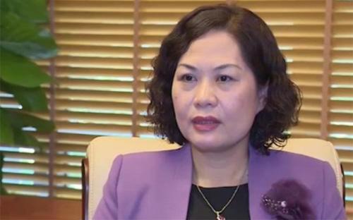 Bà Nguyễn Thị Hồng, Phó thống đốc Ngân hàng Nhà nước - Ảnh: VTV.