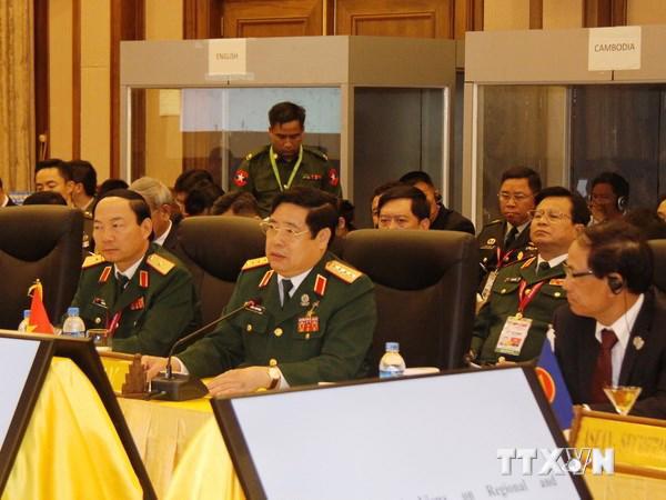 Bộ trưởng Phùng Quang Thanh phát biểu tại hội nghị - Ảnh: Bảo Trung/TTXVN.