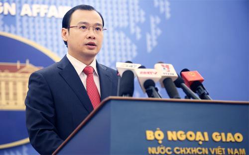 Ông Lê Hải Bình, người phát ngôn Bộ Ngoại giao Việt Nam - Ảnh: VNN.<br>