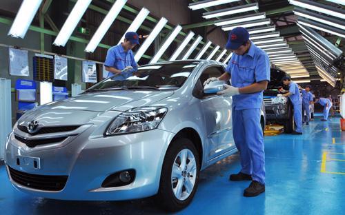 Một góc nhà máy Toyota Việt Nam tại Vĩnh Phúc. Một điều không thể phủ nhận là  cộng đồng doanh nghiệp đầu tư nước ngoài đã góp phần thay đổi một cách  căn bản diện mạo kinh tế Việt Nam trong thời gian qua.