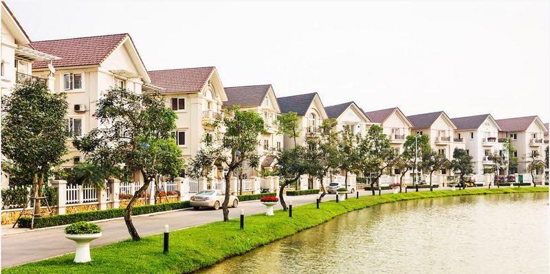 Một góc khu đô thị Vinhomes Riverside tại Hà Nội.<br>