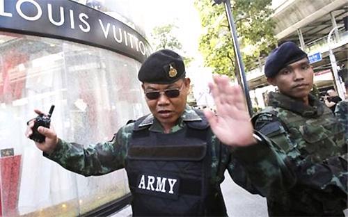 An ninh đang được thắt chặt tại Thái Lan sau vụ khủng bố ở Bangkok mới đây - Ảnh: BBC.<br>