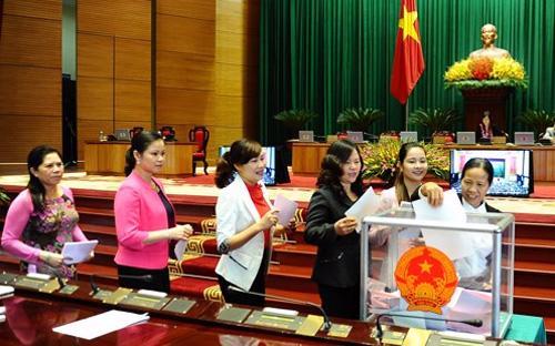 Việc tiến hành lấy phiếu tín nhiệm sẽ được rút khỏi nội dung kỳ họp Quốc hội thứ 7 - Ảnh: TP.