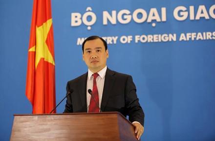Người phát ngôn Bộ Ngoại giao Việt Nam, ông Lê Hải Bình.<br>