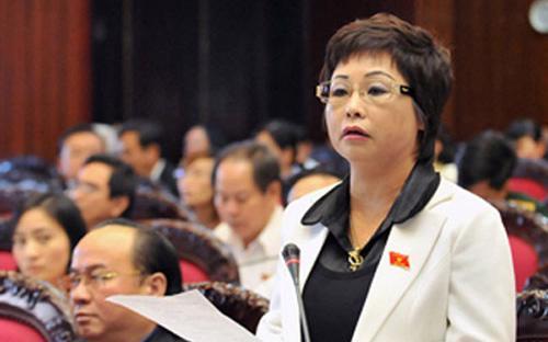 Bà Châu Thị Thu Nga trong một phiên họp tại Quốc hội - Ảnh: VnExpress.<br>