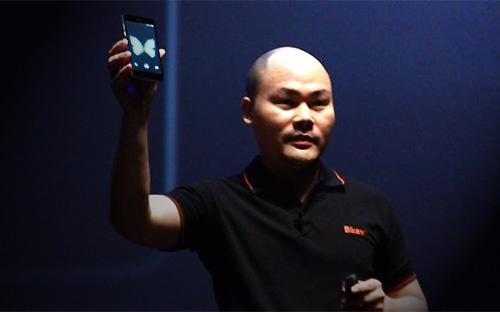 Ông Nguyễn Tử Quảng, CEO Bkav, tại lễ ra mắt Bphone hôm 26/5 vừa qua.<br>