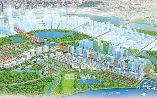 Phối cảnh dự án khu đô thị Sala tại quận 2, Tp.HCM.<br>