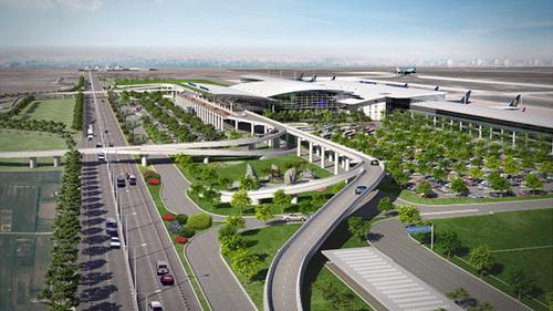 Phối cảnh dự án sân bay Long Thành.<br>