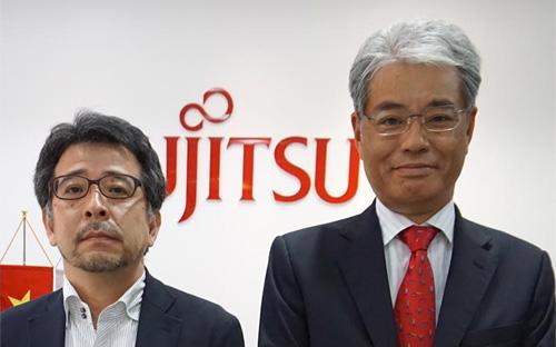 Ông Kudo Sei, Tổng giám đốc Fujitsu Vietnam (bên phải) và ông Kaneuchi Takanori, Tổng giám đốc VNPT Fujitsu Telecommunication.<br>