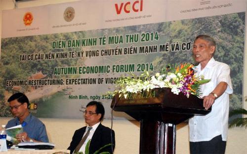 """Ông Trương Đình Tuyển nói: """"Tôi cảm thấy hiện nay chúng ta sợ cái từ """"xã hội dân sự"""" giống như sợ cái từ """"kinh tế thị trường"""" thời trước đổi mới, đó là điều rất là vô lý""""."""