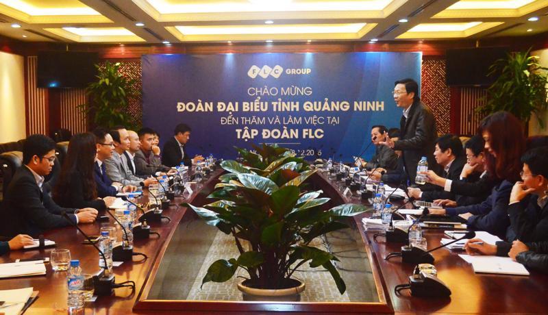 Thường vụ Tỉnh ủy tỉnh Quảng Ninh thăm và làm việc tại trụ sở FLC.