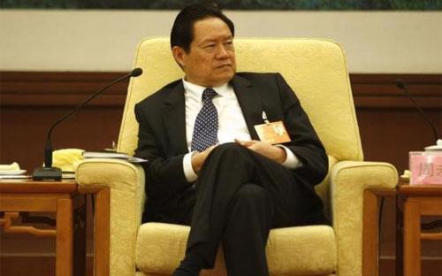 Cựu Bộ trưởng Bộ Công an Trung Quốc Chu Vĩnh Khang, người đang bị điều tra tham nhũng, trong một bức ảnh chụp năm 2007 - Ảnh: Reuters.<br>