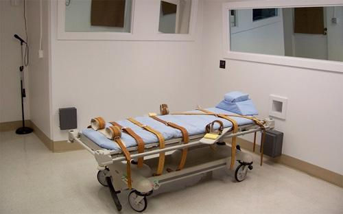 Một phòng thi hành án tử hình bằng tiêm thuốc độc ở nước ngoài.<br>