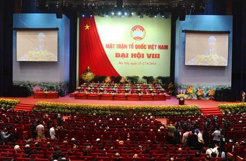 Mặt trận Tổ quốc Việt Nam góp ý xây dựng Đảng, giám sát hoạt động của tổ chức Đảng, đảng viên và phản biện xã hội đối với đường lối, chính sách của Đảng là vấn đề lớn còn có ý kiến khác nhau trong quá trình hoàn thiện dự thảo Luật Mặt trận Tổ quốc Việt Nam (sửa đổi) - Ảnh: ĐĐK.<br>