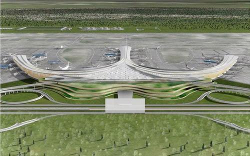Một bản phối cảnh sân bay Long Thành.