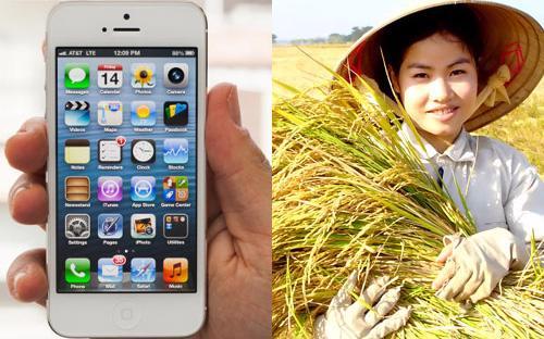 """""""Rất nhiều người bảo rằng nên sản xuất iPhone bán đi để mua gạo, thay  vì trồng lúa. Thế nhưng chúng ta phải nhìn nhận rằng, những năm qua các  nước ở Đông Nam Á rơi vào khủng hoảng tài chính, công nghiệp và dịch vụ  đi xuống, nhưng nông nghiệp vẫn tăng trưởng""""."""