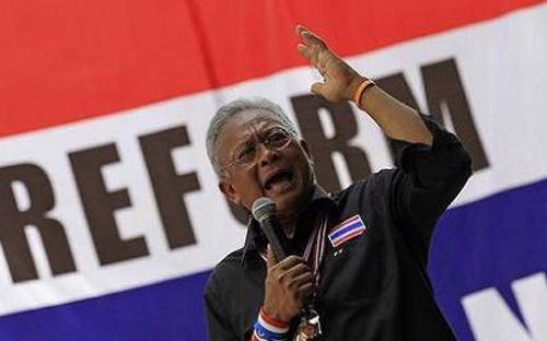 Thủ lĩnh phong trào biểu tình chống chính phủ Thái Lan, ông Suthep Thaugsuban - Ảnh: News.<br>