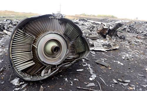 Một góc hiện trường vụ rơi chuyến bay MH17 ở miền Đông Ukraine - Ảnh: AFP/Getty.<br>