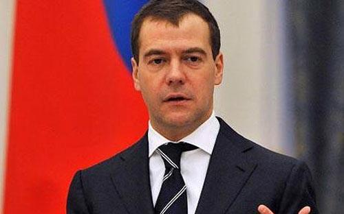 Thủ tướng Nga Dmitry Medvedev. <br>