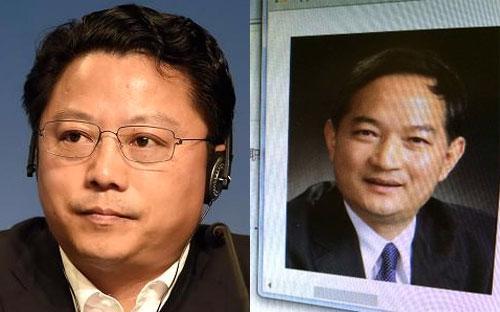 Dương Vệ Trạch (trái) và Trương Côn Sinh (phải).<br>