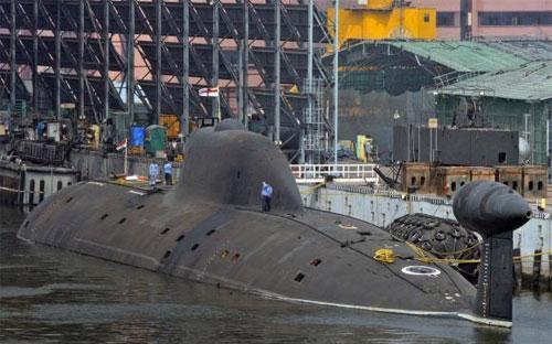 Một tàu ngầm của hải quân Ấn Độ - Ảnh: Reuters.<br>