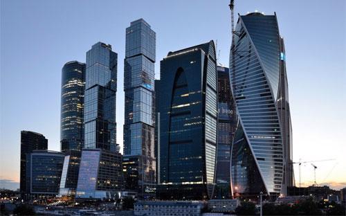 Trong khu phức hợp Moskva City có tòa tháp Mercury City Tower cao nhất châu Âu và một tòa tháp khác cao thứ ba khu vực - Ảnh: BI.<br>