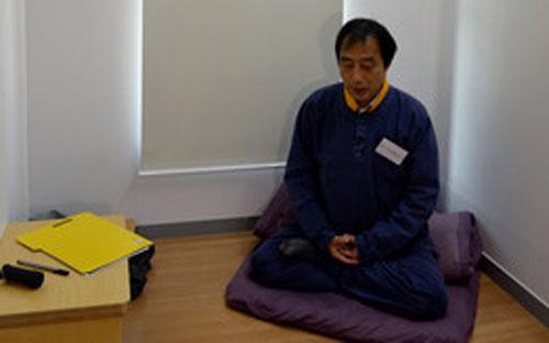 Bên trong một phòng tù giả ở Hongcheon, Hàn Quốc - Ảnh: WSJ.<br>