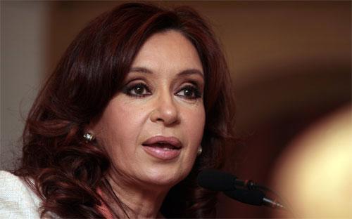 Tổng thống Argentina Cristina Fernandez de Kirchner.<b> </b>