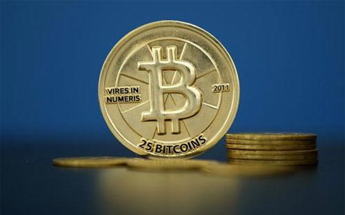 Tiền ảo Bitcoin trong một bức tranh minh họa - Ảnh: Reuters.<br>