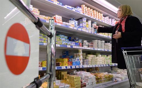 Bên trong một siêu thị ở Moscow, Nga - Ảnh: RIA.<br>