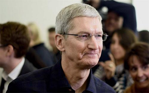 CEO Tim Cook của Apple - Ảnh: Bloomberg.<br>