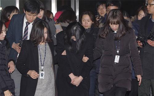 Cho Hyun-ah trong lần xuất hiện hôm 30/12/2014 - Ảnh: Getty.<br>