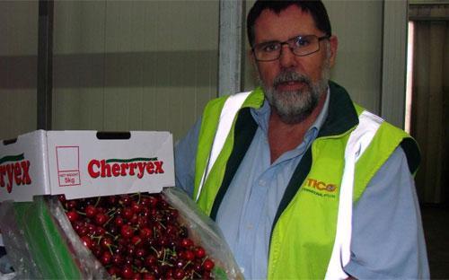 Ông Hugh Molloy, một quan chức của công ty xuất khẩu hoa quả Antico, Australia - Ảnh: ABC.<br>