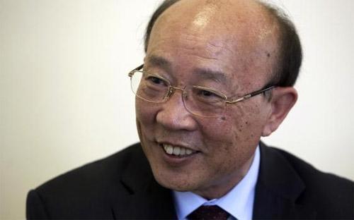 Đại sứ Triều Tiên tại Liên hiệp quốc So Se Pyong trả lời phỏng vấn Reuters tại Geneva hôm 2/10 - Ảnh: Reuters.<br>