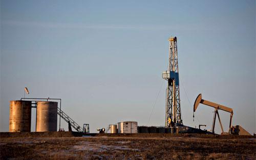 Một mỏ dầu ở North Dakota, Mỹ - Ảnh: Bloomberg.<br>
