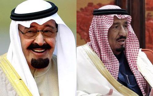 Nhà vua Abdullah vừa băng hà (trái) và người trị vì mới của Saudi Arabia - vua Salman (phải) - Ảnh: Getty và Reuters.<br>