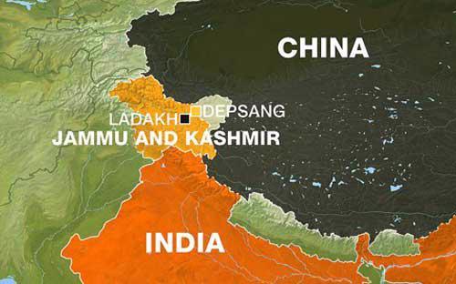 Khu vực tranh chấp giữa Ấn Độ và Trung Quốc - Ảnh: Aljazeera.