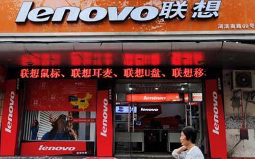 Lần đầu tiên doanh số điện thoại di động thông minh của Lenovo vượt qua doanh số máy tính cá nhân của hãng - Ảnh: CNS.<br>